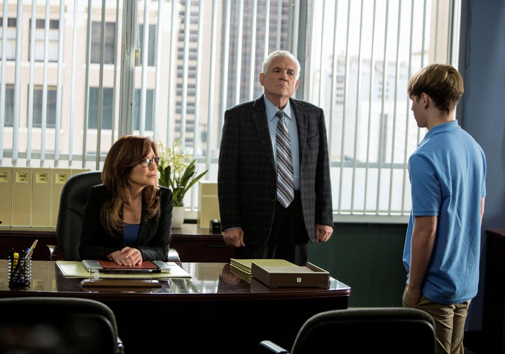 "Mary McDonnell and GW Bailey in the ""Major Crimes"" episode, ""False Pretenses."""