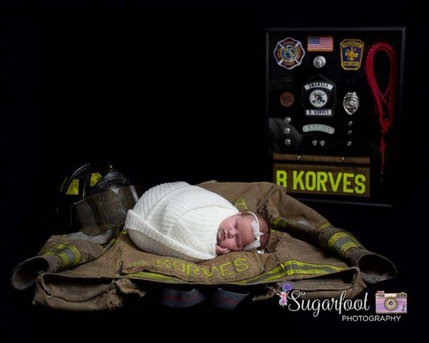 PHOTO: Baby Brett photographed with father's gear. (Sugarfoot Photography)