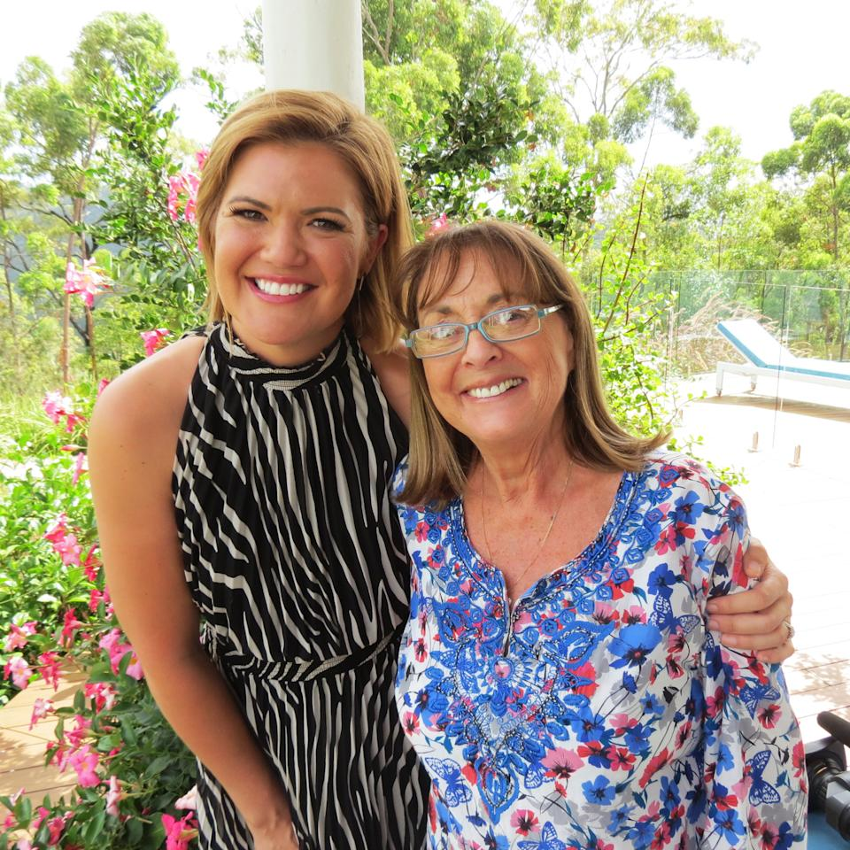 Sarah Harris and Denise Drysdale together in a garden. Photo: Twitter/studio10.