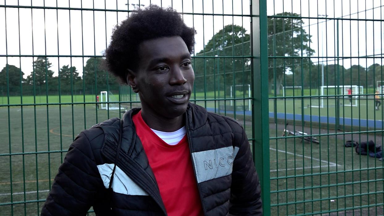 Abderauf Suliman made his journey to the UK alone from Sudan