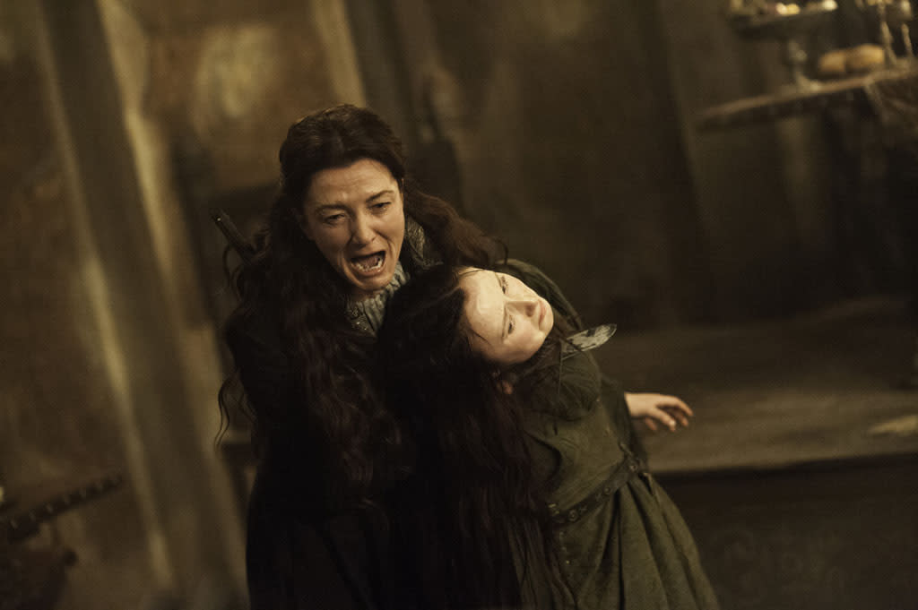"Michelle Fairley and Kelly Long in the ""Game of Thrones"" episode, ""The Rains of Castamere."""