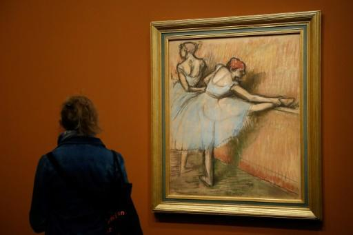 "Degas' 'Dancers at the Barre"" at the Musee d'Orsay in Paris"