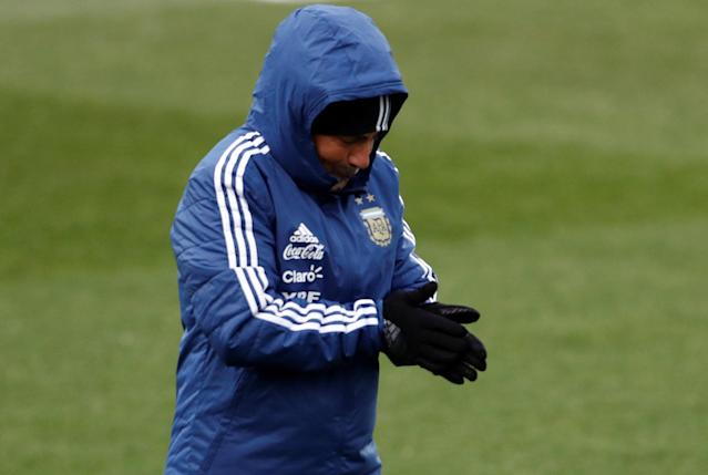 Soccer Football - Argentina Training - Valdebebas Training Grounds, Madrid, Spain - March 24, 2018 Argentina coach Jorge Sampaoli during training REUTERS/Juan Medina