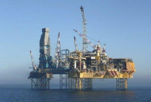 Elgin platform in the North Sea, off the coast of Aberdeen
