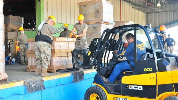 PHOTO: The Governor's office in Puerto Rico has announced that the once-abandoned supplies located at a Ponce warehouse, pictured in a photo posted to Twitter on Jan. 20, 2020, are now being distributed to shelters in quake-impacted communities. (La Fortaleza/Twitter)