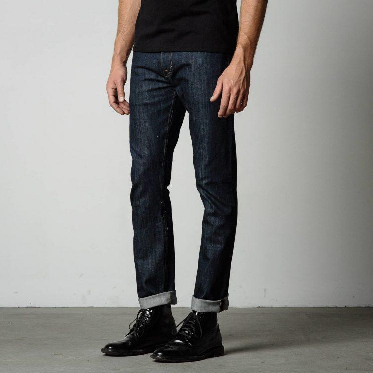 While DSTLD sells selvedge jeans, this pair isn't made from the rare fabric even though the cuff at the bottom may fool you. (Photo: Courtesy of DSTLD)