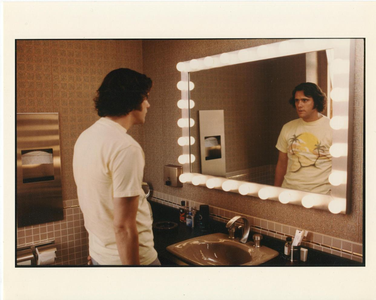 Jim Carrey as Andy Kaufman in a still from Netflix's Jim & Andy: The Great Beyond (Netflix)