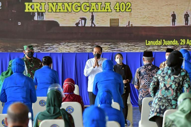 Indonesian President Joko Widodo met with families of the KRI Nanggala 402 submarine, which sank with 53 crew on board