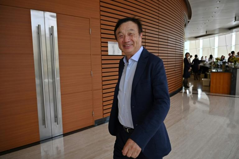 """Huawei's centre for research and development """"will be moved out of the United States and will be relocated to Canada,"""" company founder and CEO Ren Zhengfei told the Globe and Mail newspaper (AFP Photo/HECTOR RETAMAL)"""