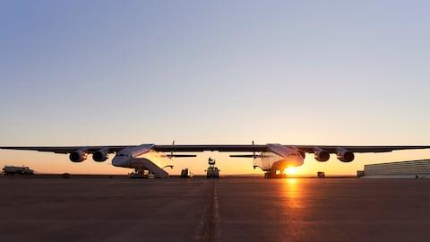 It can barely fit on the screen - Credit: Stratolaunch