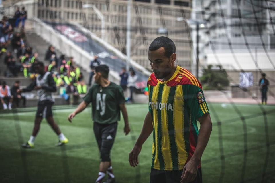 Aaron Dolores participates in a street soccer event in Atlanta. (Provided by Aaron Dolores)