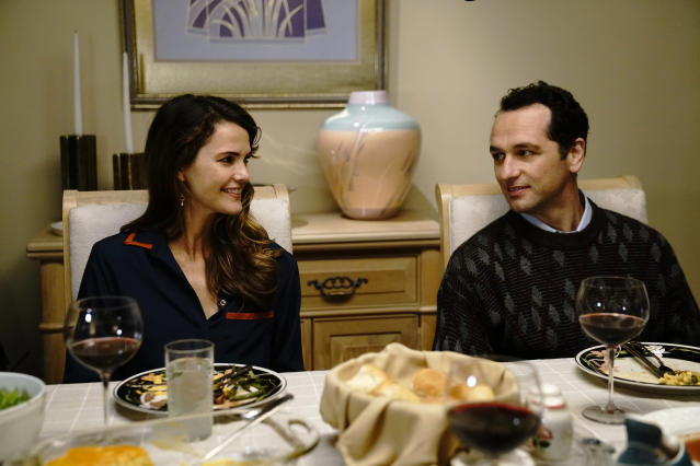 "Keri Russell as Elizabeth Jennings and Matthew Rhys as Philip Jennings in ""The Americans."" (Photo: Patrick Harbron/FX)"