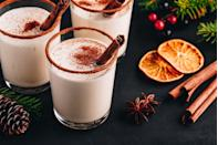 """<p><strong>Ingredients</strong></p><p>16 oz Bacardi Oro (Gold) <br>2 bottles Reàl Coconut Cream<br>1 can condensed milk<br>2 cans evaporated milk<br>2 oz vanilla extract<br>1 tbsp cinnamon powder</p><p><strong>Instructions</strong></p><p>Mix all ingredients in a blender. Chill for a few hours and serve cold, no ice. Sprinkle with ground cinnamon and garnish with a cinnamon stick.</p><p><em>By <a href=""""https://www.rumcapital.com/"""" rel=""""nofollow noopener"""" target=""""_blank"""" data-ylk=""""slk:Rums of Puerto Rico"""" class=""""link rapid-noclick-resp"""">Rums of Puerto Rico</a>.</em></p>"""