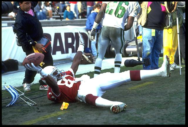 Roy Green scored in style. (Getty Images)