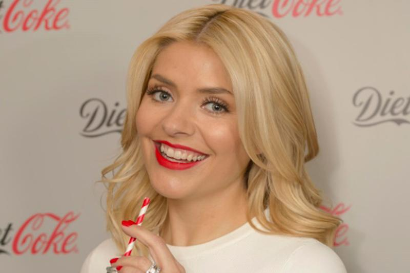 Worried: Holly Willoughby is concerned about her childen's use of social media: Diet Coke