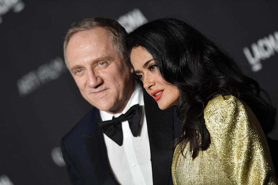 Francois-Henri Pinault and his wife Salma Hayek. Photo: Axelle/Bauer-Griffin/FilmMagic