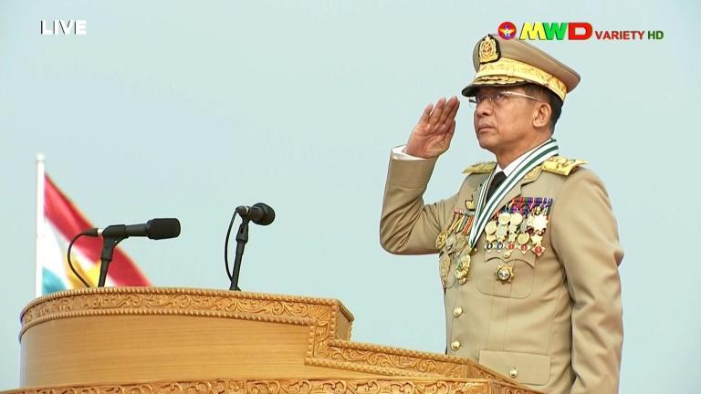 Junta leader General Min Aung Hlaing has again defended the coup and pledged to yield power after new elections