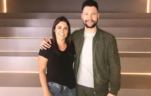 At first glance this photo of Be reporter Bex with Calum Scott looks innocent enough. Source: Supplied