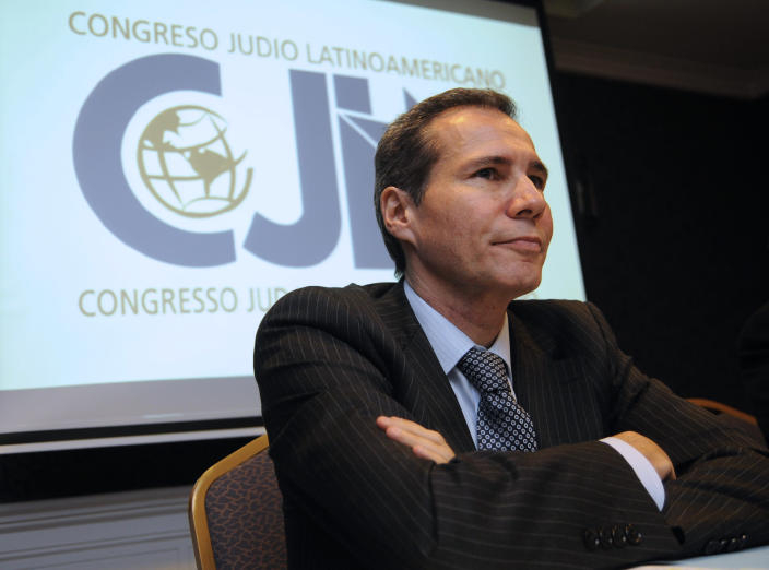 Late Argentine prosecutor Alberto Nisman, seen here in Buenos Aires on July 16, 2013 in a picture released by Noticias Argentinas (AFP Photo/Marcelo Capece)