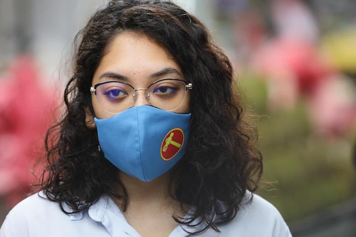 A woman wears a mask in Singapore. (Getty Images)