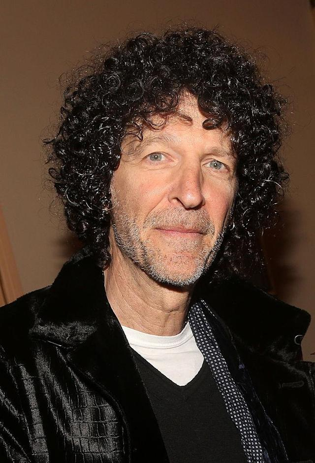 Howard Stern and his award-winning hair. (Photo: Getty Images)