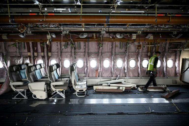 Tarmac Aerosave also breaks down planes, with 90 percent of them recycled