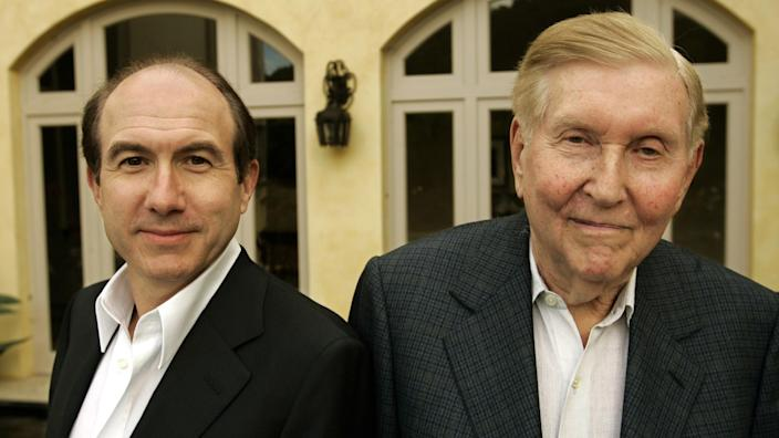 Philippe Dauman, left, and Sumner Redstone at Paramount in 2007. Dauman was ousted as Viacom chief officer in 2016.