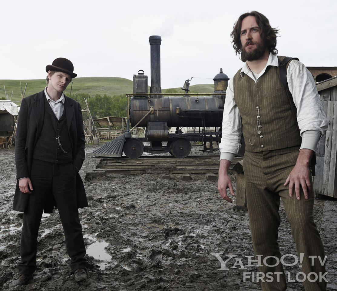 "Sean McGinnes (Ben Esler) and Micky McGinnes (Philip Burke) in AMC's ""Hell on Wheels"" Season 3."