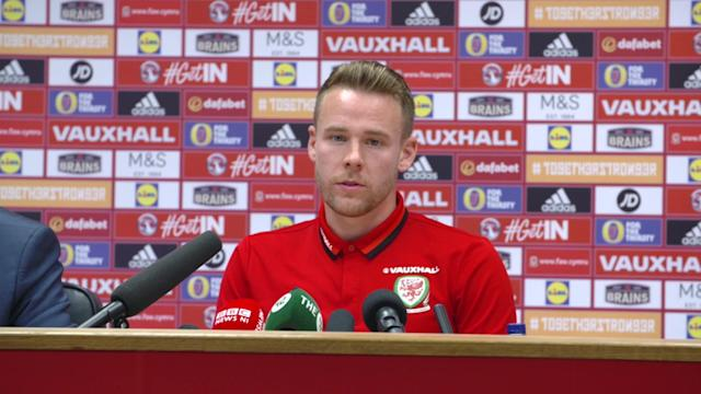 Wales and Reading defender Chris Gunter praises the feeling around the Wales squad ahead of his nation's World Cup showdown with Ireland.