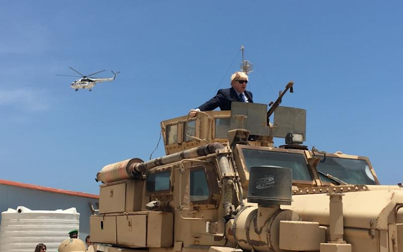 Boris Johnson in Mogadishu - Credit: BBC Africa