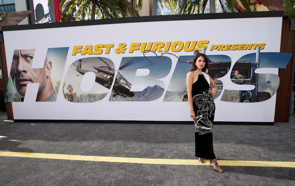 "Cast member Elza Gonzalez poses at the premiere for ""Fast & Furious Presents: Hobbs & Shaw"" in Los Angeles, California, U.S., July 13, 2019. REUTERS/Mario Anzuoni"