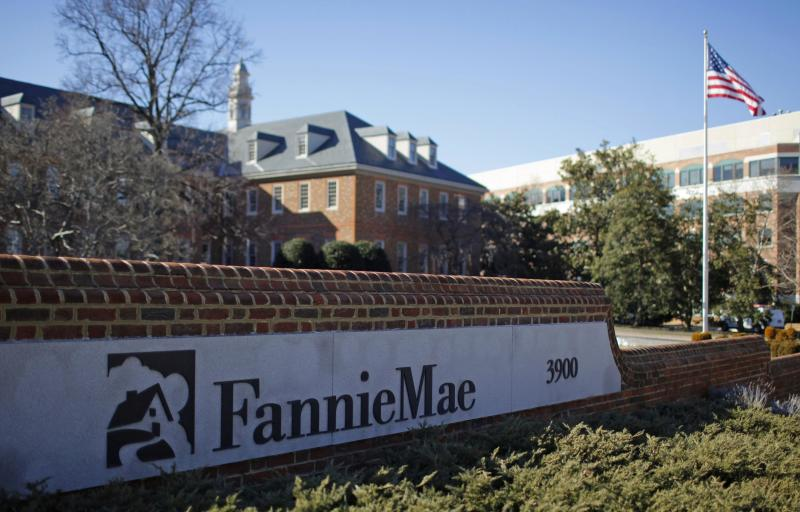 A sign in front of the Fannie Mae headquarters in Washington