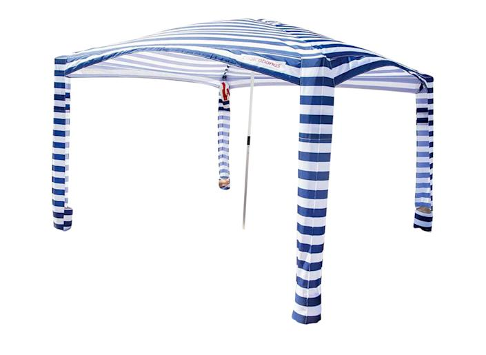 """<p>This easy-to-assemble beach shelter is a PEOPLE editor obsession. It folds into a 3-ft. bag and doesn't block the breeze like a traditional tent.</p> <p><strong>Buy it!</strong> From $159; <a href=""""https://coolcabanas.com/products/coolcabana-5_navy-stripes"""" rel=""""sponsored noopener"""" target=""""_blank"""" data-ylk=""""slk:coolcabanas.com"""" class=""""link rapid-noclick-resp"""">coolcabanas.com</a></p>"""