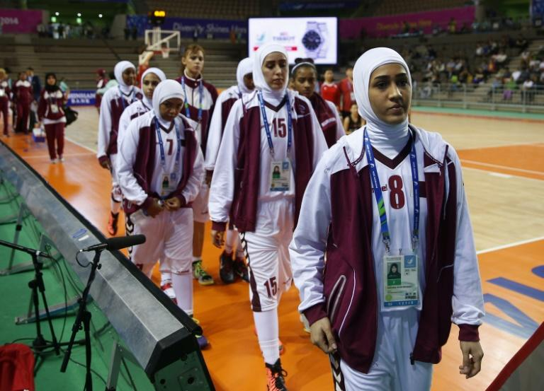 A furious Qatar withdrew their women's basketball team from the Asian Games in 2014 because the International Basketball Federation  said they were not allowed to wear headscarves on safety grounds