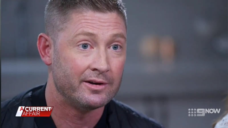 Michael appeared to hold back tears as he explained every dad's worst nightmare. Photo: ACA