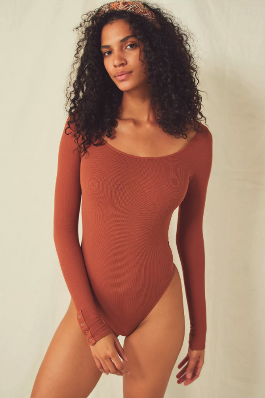 Split Up Bodysuit. Image via Free People.