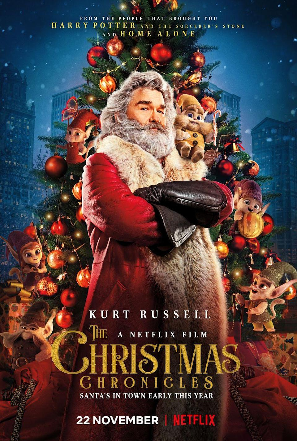 """<p>Kurt Russell stars as a cool-as-hell Santa (obviously) who gets stuck after two kids steal away in his sleigh (landing them on the naughty list, for sure). Come for Kurt, stay for the hilarious dialogue.</p><p><a class=""""link rapid-noclick-resp"""" href=""""https://www.netflix.com/title/80199682"""" rel=""""nofollow noopener"""" target=""""_blank"""" data-ylk=""""slk:Watch Now"""">Watch Now</a></p>"""