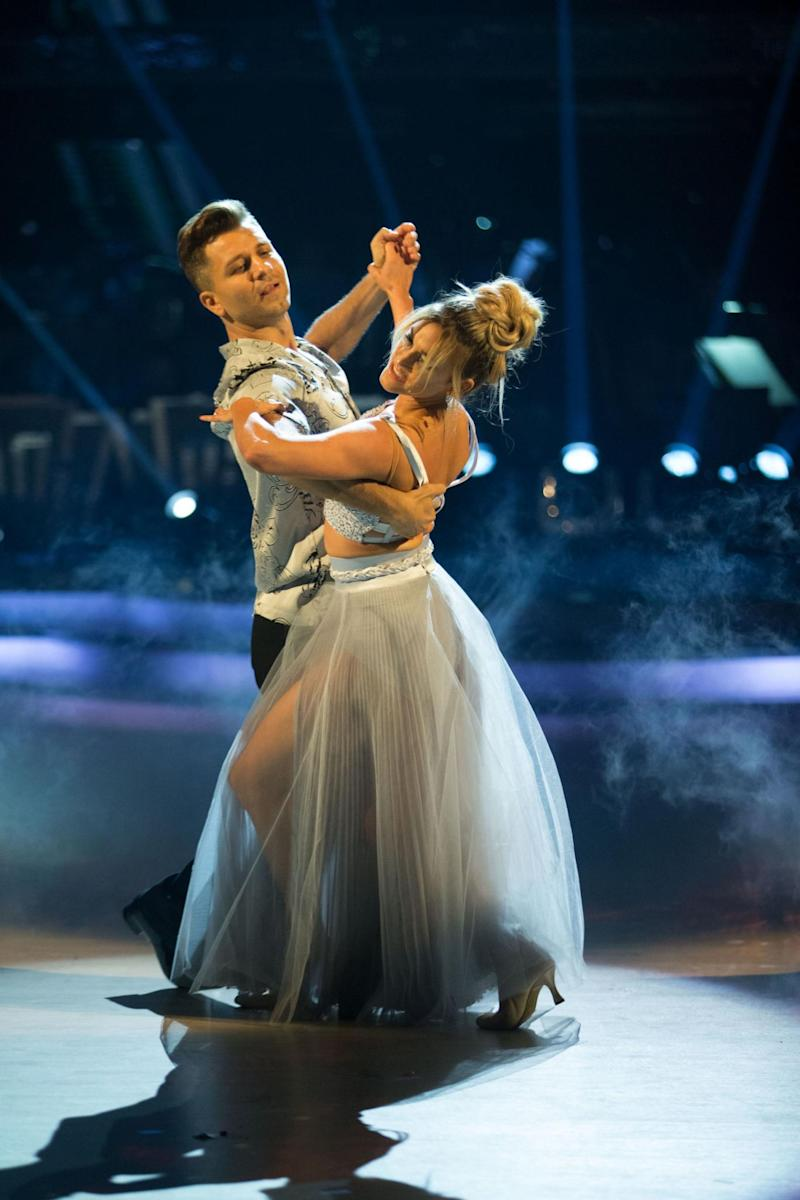 Romance: Ashley Roberts is partnered with Pasha (Guy Levy/BBC/PA Wire)