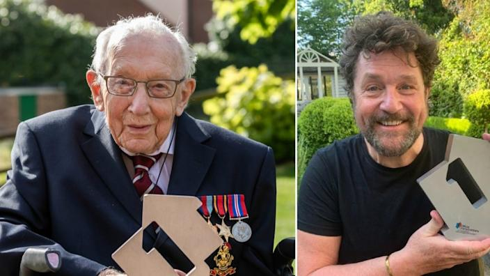 Captain Tom Moore becomes oldest artist to claim UK No 1 single