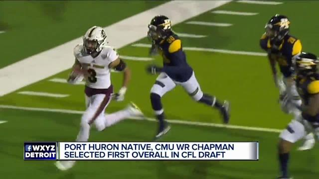 Central Michigan's Mark Chapman goes No. 1 overall in CFL Draft. Brad Galli has more on the Port Huron native.