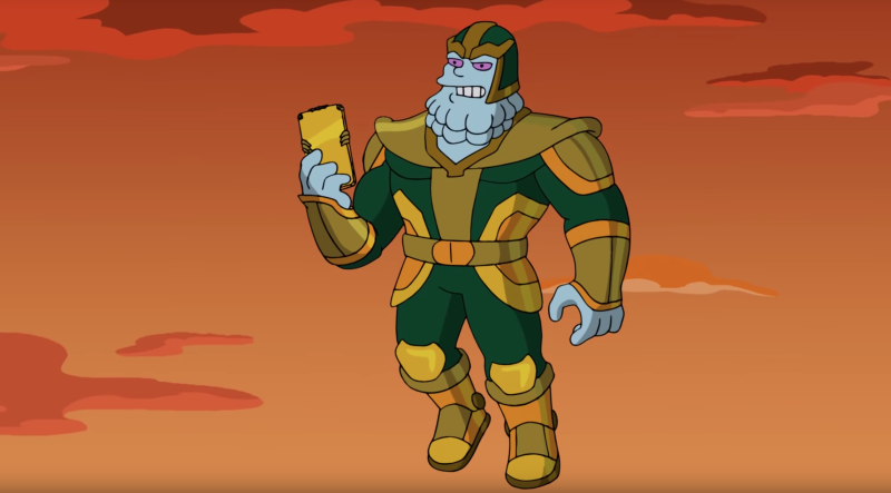 Kevin Feige voices Chinnos in The Simpsons. (Fox/YouTube)