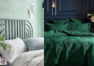"""<p>Goodbye grey, hello green. While neutral, all-grey colour schemes can look sleek and sophisticated, many of us are beginning to miss a little colour, especially when it comes to such an important personal space as our <a href=""""https://www.goodhousekeeping.com/uk/house-and-home/declutter-your-home/a575013/bedroom-organisation-advice/"""" rel=""""nofollow noopener"""" target=""""_blank"""" data-ylk=""""slk:bedrooms"""" class=""""link rapid-noclick-resp"""">bedrooms</a>. </p><p>Green is the colour of nature and positivity, making it an ideal hue for <a href=""""https://www.goodhousekeeping.com/uk/house-and-home/home-decorating-ideas/a36276471/scalloped-wall/"""" rel=""""nofollow noopener"""" target=""""_blank"""" data-ylk=""""slk:decorating"""" class=""""link rapid-noclick-resp"""">decorating</a> a room designated for relaxation and restoration. Here, we take your through some simple green bedroom design ideas to help you curate a beautiful room which will be the envy of every guest. </p>"""