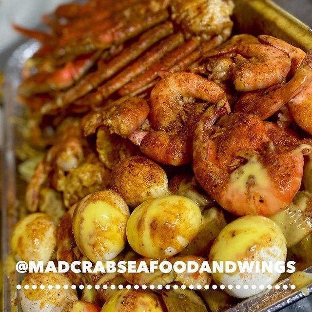 """<p>Though there are a plethora of appetizing Black-owned restaurants in the Orlando area, Mad Crab Seafood and Wings has become one of the most talked about seafood restaurants in town. A stand alone, family-owned restaurant established in 2014, Mad Crab's menu consists of everything from fried shrimp platters and snow crab combos to fried fish dinners and flavored wings. Though <a href=""""https://www.yelp.com/biz/mad-crab-seafood-and-wings-orlando?osq=Black+Owned+Restaurant"""" rel=""""nofollow noopener"""" target=""""_blank"""" data-ylk=""""slk:popular sides"""" class=""""link rapid-noclick-resp"""">popular sides</a> include the garlic eggs and garlic potatoes, it's the in-house seasonings and sauces that keep customers coming back for more.</p><p><a href=""""https://www.instagram.com/p/CI8UE2WJEeg/"""" rel=""""nofollow noopener"""" target=""""_blank"""" data-ylk=""""slk:See the original post on Instagram"""" class=""""link rapid-noclick-resp"""">See the original post on Instagram</a></p>"""