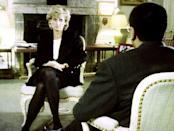 Diana, Princess of Wales, during her interview with Martin Bashir for the BBC (BBC screen grab/PA)