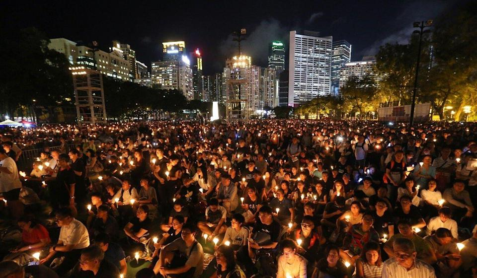 Hong Kong's annual Victoria Park vigil is the only large-scale marking of the 1989 Tiananmen Square crackdown in China. Photo: Dickson Lee