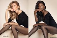 <p>Howard holds her own against the beautiful Gisele Bundchen in a Vivara ad. </p>