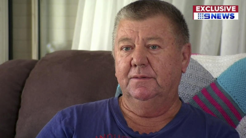 "In this image made from a video, a man who Australia's Nine Network television says is an uncle of Brenton Harrison Tarrant, the Australian man accused of carrying out the mass shootings at two New Zealand mosques, is interviewed in Grafton, New South Wales, Australia Sunday, March 17, 2019. The uncle, identified as Terry Fitzgerald, says, ""We say sorry, for the families over there, for the dead and the injured, yeah we just, can't think nothing else, just want to go home and hide."" (CHANNEL 9 via AP)"
