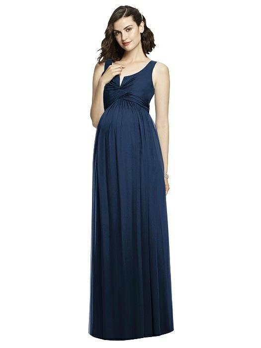 "<em>Style: M424 lux chiffon dress with pleated bodice and notch detail at neckline, $284, After Six available at <a rel=""nofollow"" href=""https://dessy.com/dresses/bridesmaid/m424/#.WqAWVSMrK_s"">Dessy</a></em>"