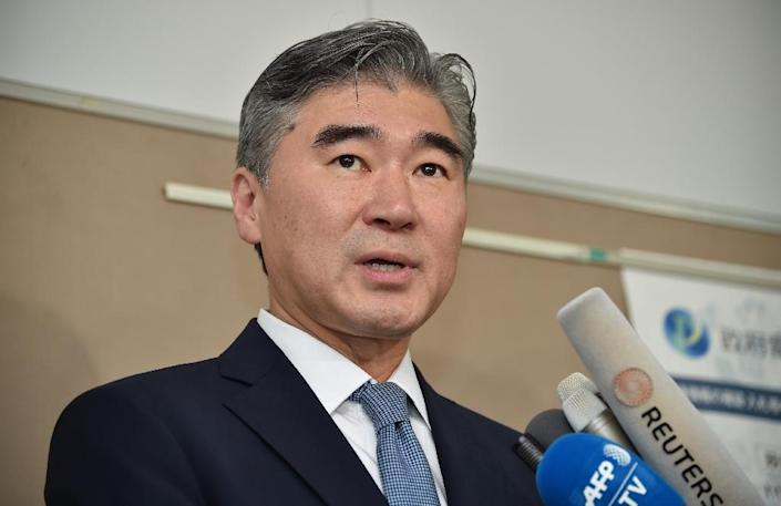 US State Department's Special Representative for North Korea Policy, Ambassador Sung Kim answers questions at a briefing in Tokyo, on September 11, 2016 (AFP Photo/Kazuhiro Nogi)