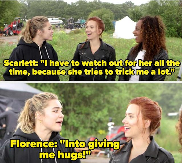 17 Times Scarlett Johansson And Florence Pugh Proved Their Offscreen Bond Is As Real As It Gets